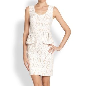 BCBG Etna Lace Peplum Sheath Dress Sz 0